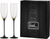 Champagner Exklusiv Sekt - zlatý proužek/černá stopka (dárkové balení po 2ks)